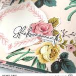 Scrapbook Minialbum mit Stoffcover