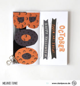 Halloween Minialbum im Danidori Format
